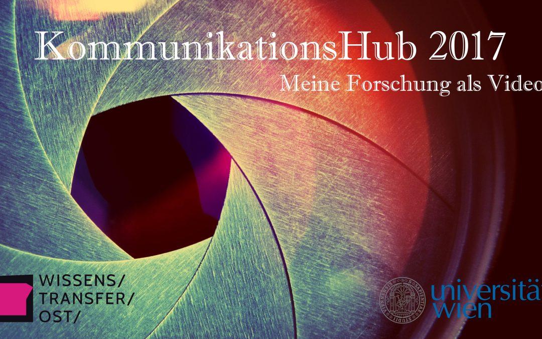 CALL: KommunikationsHub 2017: Meine Forschung als Video