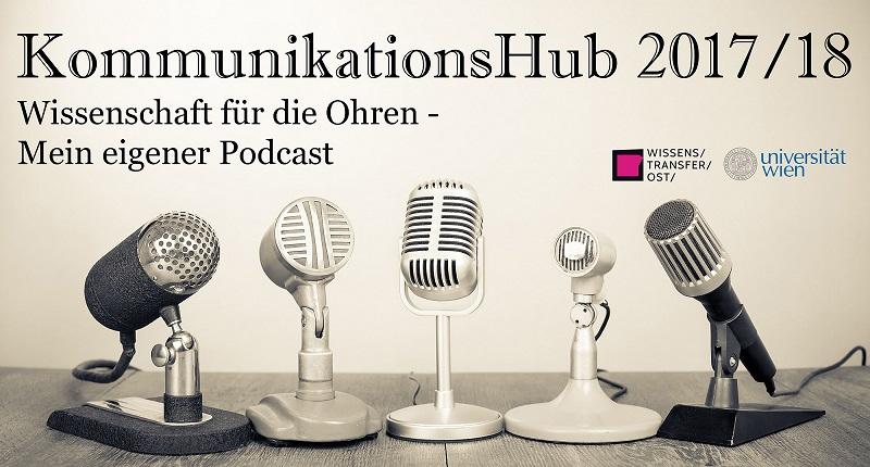 Wissenschaft für die Ohren: Die Podcasts des KommunikationsHub 2018